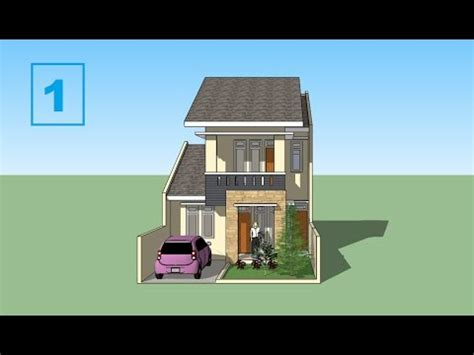 sketchup tutorial house minimalis design part  youtube