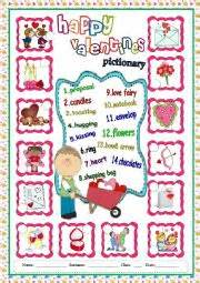 valentines day pictionary worksheets 180 s pictionary