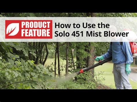 solo  backpack mist blower video