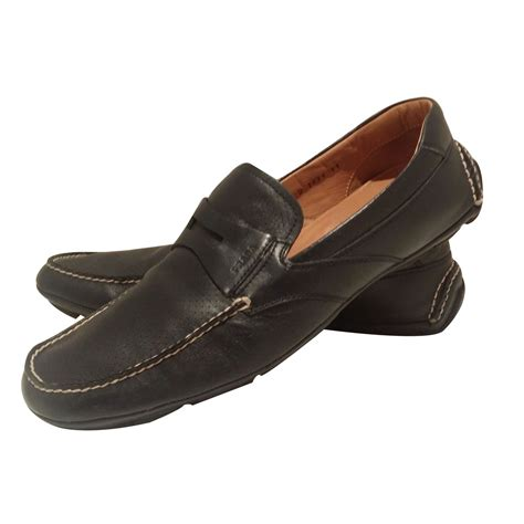 prada loafers prada loafers slip ons loafers slip ons leather blue ref