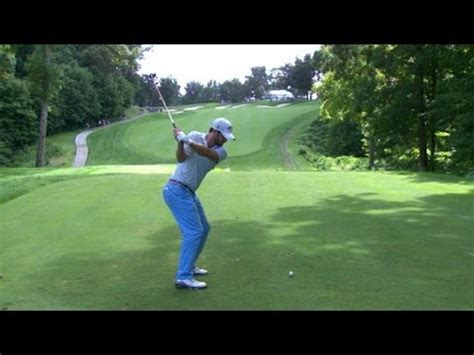 ryan moore golf swing analysis moore s tee on no 11 in round 4 of the travelers doovi
