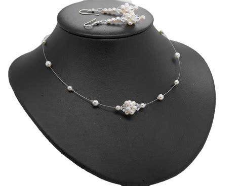 hochzeitsschmuck silber perlenschmuck hochzeit brautkette ornara