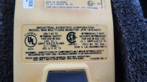 Multi Gas Detector M40 industrial scientific m40 multi gas monitor w accessories