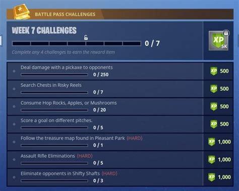 fortnite week 7 challenges fortnite season 4 week 7 challenges fortnite insider