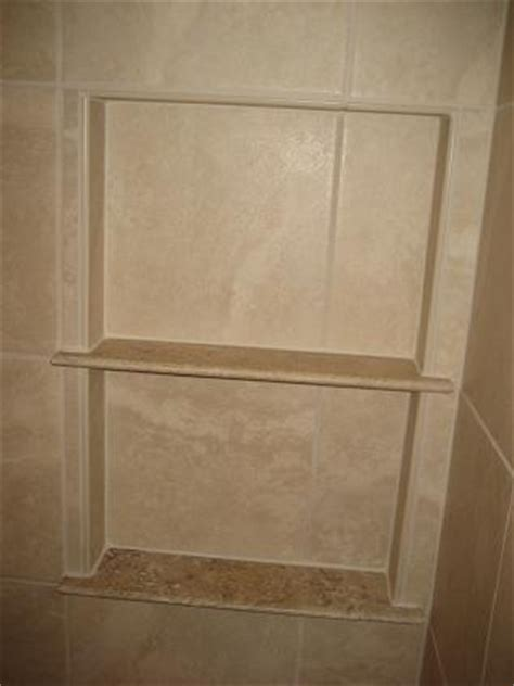 Niche Shelf by Ceramictec A Travertine Marble Niche Shelf