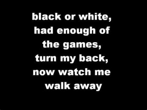 black or white lyrics bleeding in stereo black or white lyrics youtube