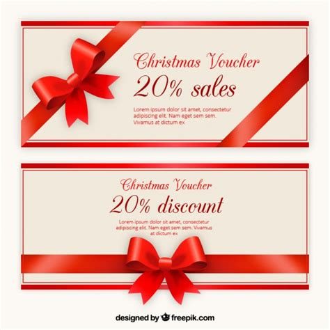 christmas voucher discount template pack  vector