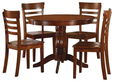 antique oak dining room sets homelegance wayland 5 piece round dining room set in