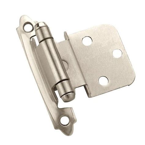 amerock cabinet door hinges amerock 3 8 quot inset hinge satin nickel sold per pair