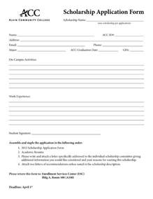 scholarship application templates application form basic application form template