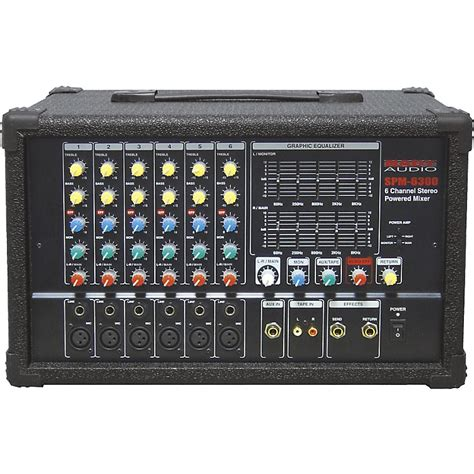 Mixer Audio Dat nady spm 6300 6 channel powered mixer with dsp music123