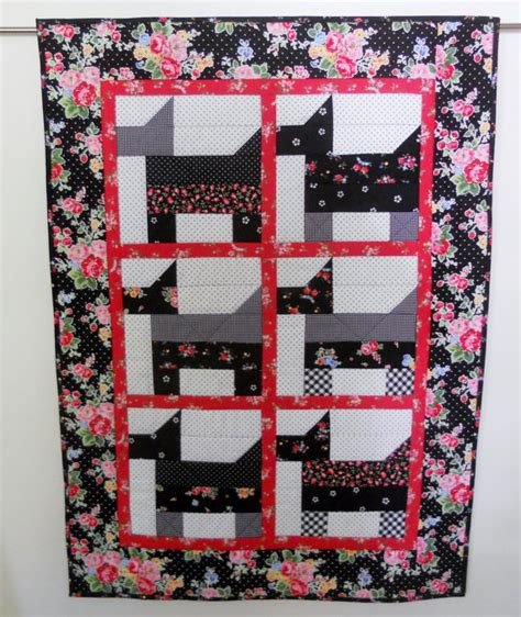 scottie dogs baby quilt toddler bed quilt quilted wall