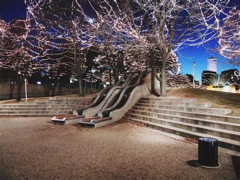 omaha lights downtown gene leahy mall in downtown omaha during the