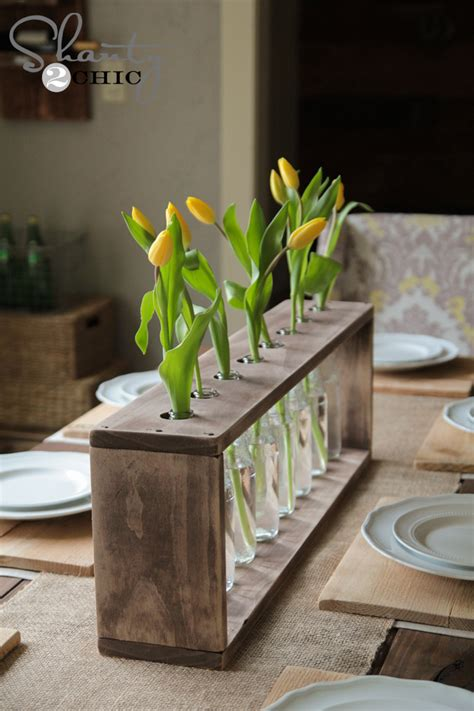 Diy Wood Vase by Wine Bottle Centerpieces Budget Friendly And Looking Chic