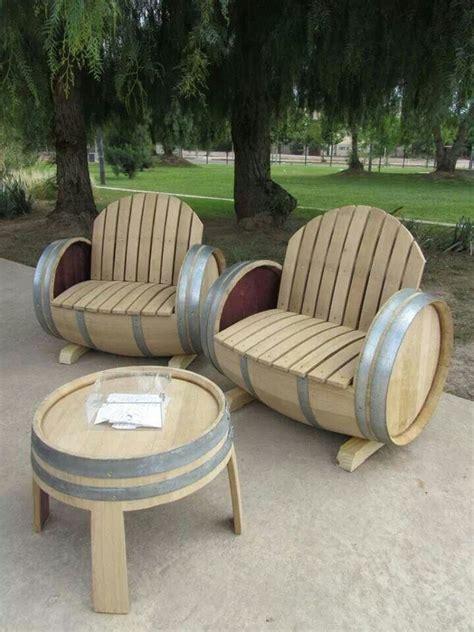 wine barrel patio furniture wine barrel furniture diy ideas table and