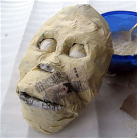 How To Make A Mask From Paper Mache - how to make a paper mache mask ultimate paper mache