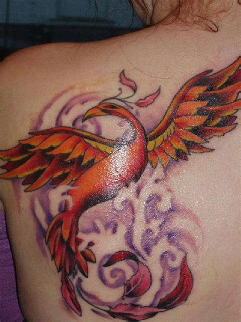 tattoo phoenix flames unique phoenix tattoos designs for girls