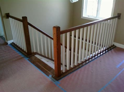 indoor banisters interior stair railing provided by vanderhoff construction