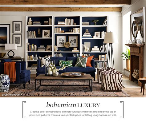 Bookshelf Design by Bohemian Decor Amp Furniture Williams Sonoma Williams Sonoma