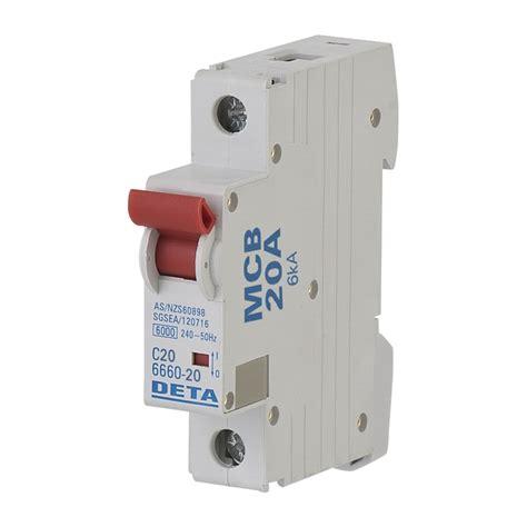 Mini Circuit Breaker Mcb 1 Phase 20 25 32 40a deta 20 miniature circuit breaker bunnings warehouse