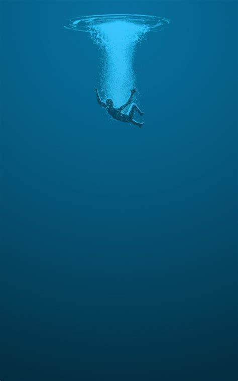 wallpaper for android water man drowning blue water lockscreen android wallpaper free