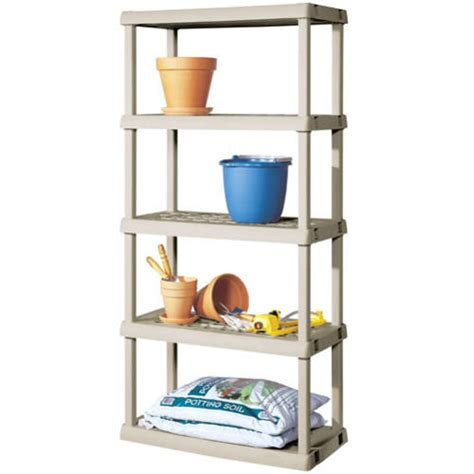 sterilite 5 shelf unit light platinum walmart com