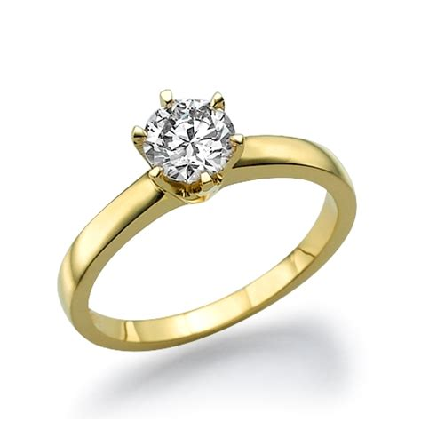 classic 51 ct six prong solitaire engagement ring