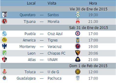 Calendario Dela Liga Mexicana 2015 Calendario Juegos Jornada 4 Futbol Mexicano Clausura 2015