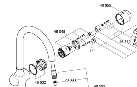 grohe ladylux parts diagram grohe kitchen faucet parts diagram grohe ladylux parts