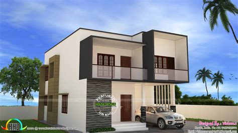simple modern home plans simple modern house by vishnu s kerala home design and
