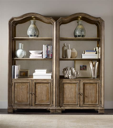 bookcase back panel hooker furniture solana bunching bookcase with mirrored