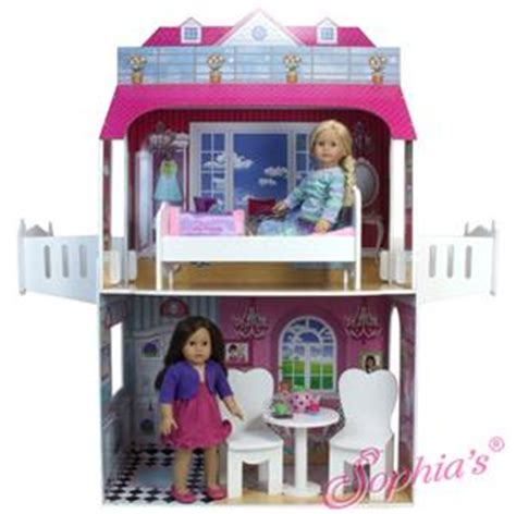 house for 18 inch dolls big two story 18 inch doll playhouse house for 18 quot american girl dolls ebay
