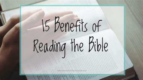 15 Benefits Of Reading The Bible To Nourish Your Spirit