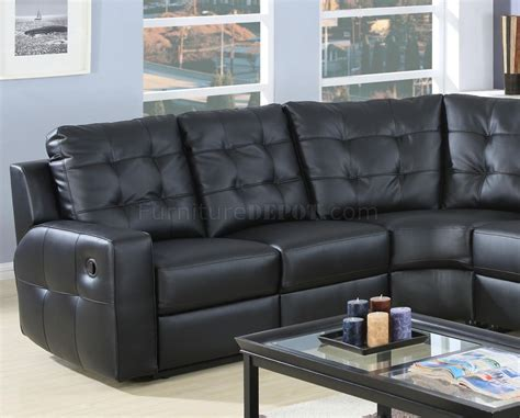 Modern Leather Sectional Sofa With Recliners Modern Leather Reclining Sectional Sofa 600315 Black