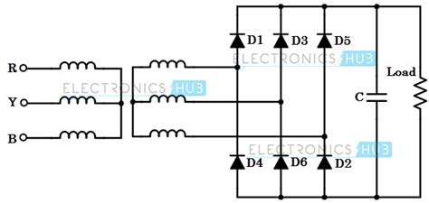three phase diode bridge rectifier 4 different power converters