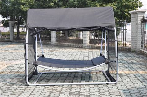 swinging hammock bed hammock swing bed with mosquito net sleeping free standing