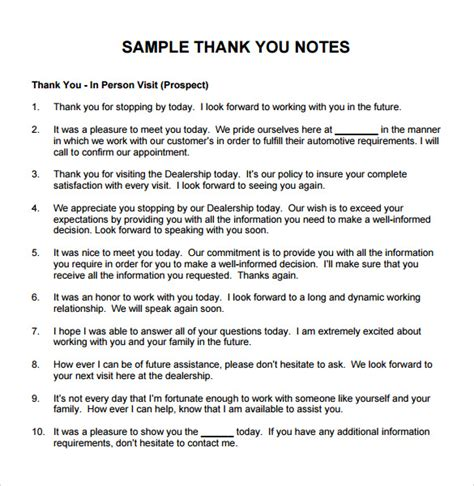 Thank You Letter To My Boss Sample Sample Thank You Note To Boss 6 Documents In Pdf Word