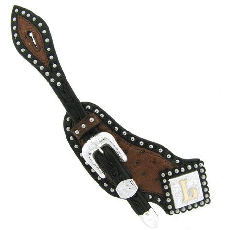 Handmade Spur Straps - custom spur straps 02 harris leather silverworks