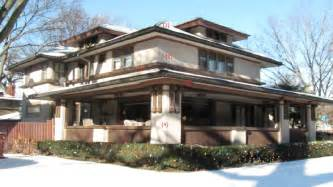 Prairie Home Style style home is mainly associated with frank lloyd wright prairie style