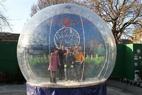 large snow globe snowglobe hire