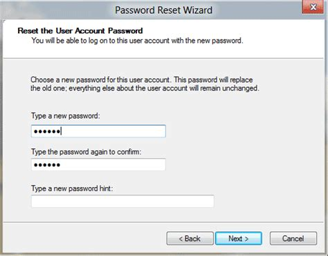 how do you reset vista password windows 8 password reset disk password recovery