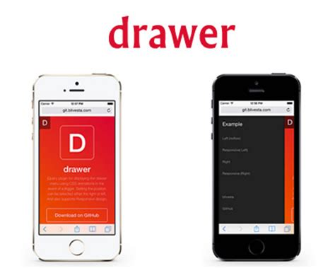 Jquery Drawer Menu by Drawer Jquery Plugin For Drawer Menu With Css Animations
