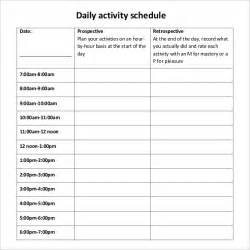 daily activity schedule template daily schedule template 29 free word excel pdf