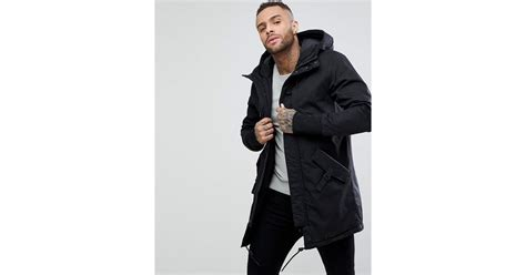 Pull And Anorak Quilted Jacket Black lyst pull quilted parka with in black in black for