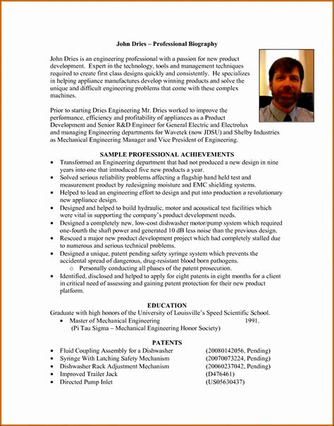 8 Biography Exle For High School Students Legacy Builder Coaching Coach Bio Template