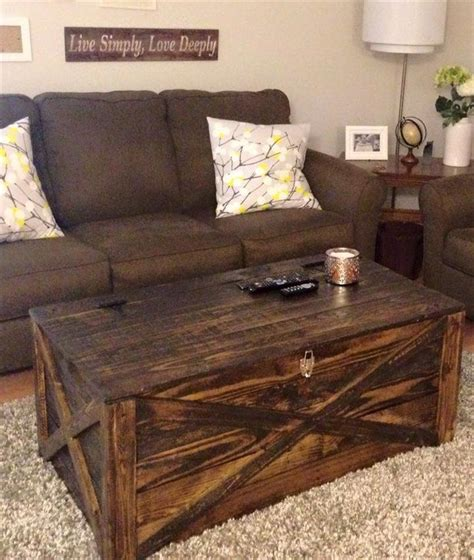 Coffee Tables Pinterest Rustic Pallet Coffee Table Or Storage Chest Jpg 720 215 852 Furniture Pinterest Coffee Table