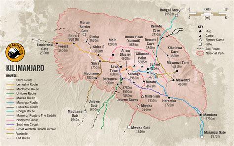 africa map kilimanjaro mount kilimanjaro national park with daigle tours