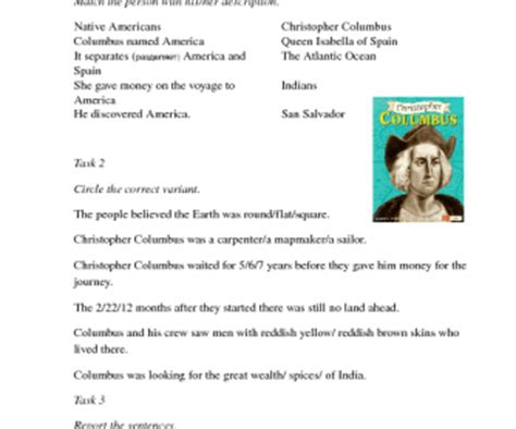 christopher columbus biography for middle school celebrities biographies busyteacher free printable