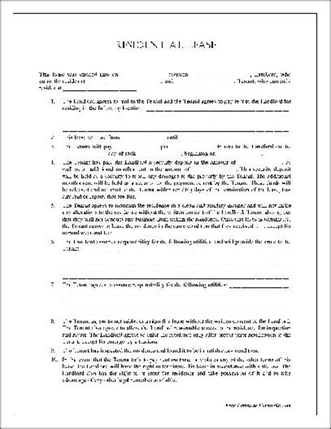 generic lease agreement template free printable residential lease form generic