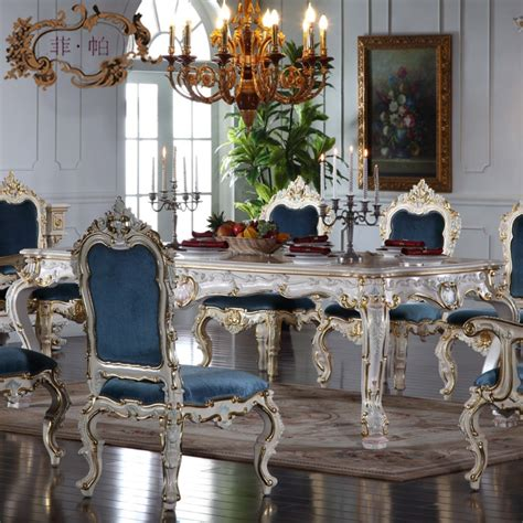 Dining Room Table Tuscan Decor Stunning Blue Upholstered Chairs And Antique White Dining Table For Lavish Italian Dining Room
